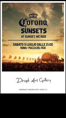 drink art gallery piazza del fico evento corona sabato 9 luglio roma